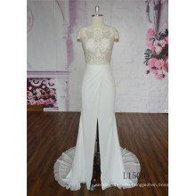 Glamorous Wedding Dress Mermaid Skin Color Wedding Dress Lace