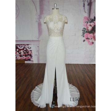 Glamorous Wedding Dress Mermaid Skin Color Wedding Dress Lace