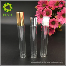 Rolo de 10 ml de vidro, transparente, em frasco para embalagem essencial