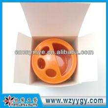 Pote de escova de plástico ABS de banheiro para promo presente com tampa de pvc