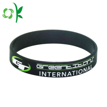 Hot Selling Letter Shape Silicone Wristbands för present