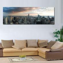 Панорамный пейзаж с видом на город