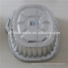 Desechable sacar placa de tostado ovalada, bandeja de pavo de aluminio
