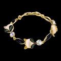 Pulsera de mujer de piedra de moda pulsera de oro 18k pulsera plateada