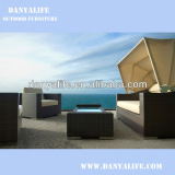DYSF-D4421E,Wicker Garden Patio Sofa Set,Rattan Outdoor Restaurant Sofa Chair with Tea/ Coffee Table,4 Seat Swimming Pool Sofa