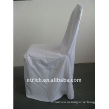 Cubierta de silla de banquete estándar de color blanco, material de poliéster CTV555, durable y fácil de lavar