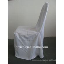 tampa padrão da cadeira do banquete da cor branca, material do poliéster CTV555, lavável durável e fácil