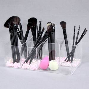 Jasne akrylowe Makeup Brush Organizer