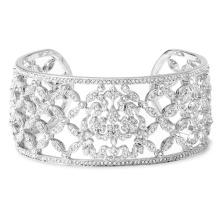 Alta qualidade CZ 925 Sterling Silver Jewelry Pulseira de punho de prata