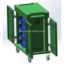 Station de charge de comprimé / ordinateur portable / chromebook de remplissage d'armoire avec le déplacement