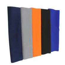 Polyester/rayon fabric, suitable for work wear