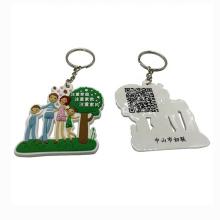 Wholesale Custom Cheap Hot Sell 3D Soft Pvc Rubber Key Ring