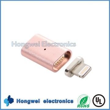 8-контактный алюминиевый сплав Магнитный USB-адаптер зарядки для iPhone ISO