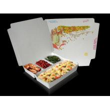 Boîte de gâteau de Kraft de gris / caisse de nourriture se pliante de papier de Kraft / boîte de restauration rapide