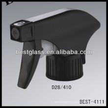 28/410 pulverizador de gatillo de plástico negro, desencadenador de pulverizador de botellas cosméticas, pulverizador de bomba de perfume
