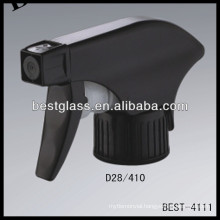 28/410 black plastic trigger spray, cosmetic bottles sprayer triggers, perfume pump sprayer