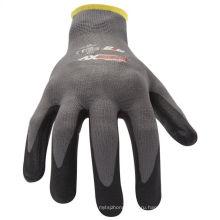 Микро-пены Нитрила сцепление работы перчатки для строителей