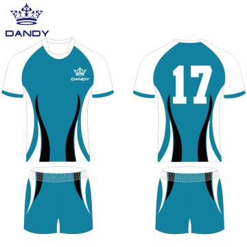 Kundenspezifische Rugby-Jersey-Polyester-Rugby-Uniform