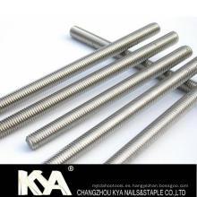 DIN975 Galvanizado / ASTM193 / B7 / Grado 4.8.8.8 Varilla roscada