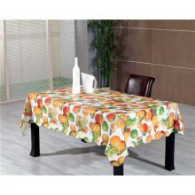 Toalha de mesa impressa PVC colorida amigável do projeto novo com fruto