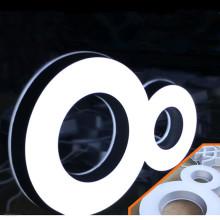 Plástico do sinal da letra da caixa leve do diodo emissor de luz do logotipo 3D