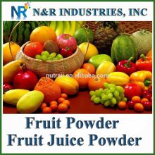 Alimentation Poudre de fruits ou poudre de jus de fruits 100% pure et naturelle stérilisation à la vapeur