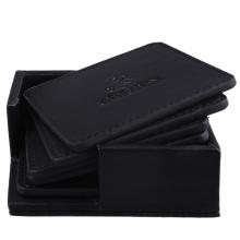 El práctico de costa de cuero negro más barato de la PU de la marca de fábrica con la insignia de la marca de fábrica