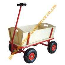 Carro de herramienta de madera con rueda de goma neumática