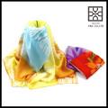 Echarpe en mousseline de soie multicolore en mousseline de soie