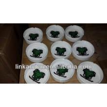 Haonai 2014 popular personalizado de impresión de cenicero de cerámica