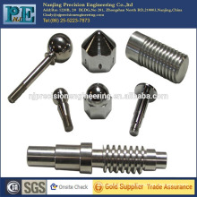 Custom shape stainless steel precision worm shaft