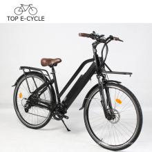 Diy e moto bicicleta elétrica da cidade do vintage 700c verde power 48 v 14.5ah bateria de lítio bicicleta elétrica