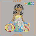 OES Girl rhinestone heat press transfers