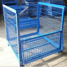 Foldable Stackable Steel Wire Mesh Bulk Container