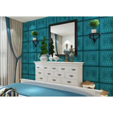 Embossed Leather 3D Decorative Wall Panels for Office Comme