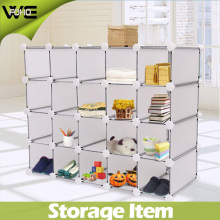 Folding Plastic Display Cabinet Large Shoe Box Cabinet