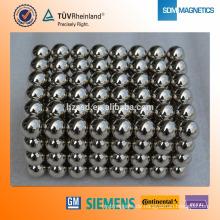 N35 Nickel beschichtetes Neodym 3mm mit Kugelform