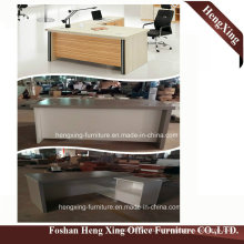 Hx-5de308 1.6 Meter L Shape Oak Melamine Laminated Office Desk