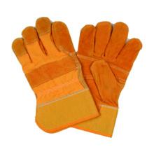 Guante de trabajo de piel de vaca dividida, guante de seguridad, guante de CE
