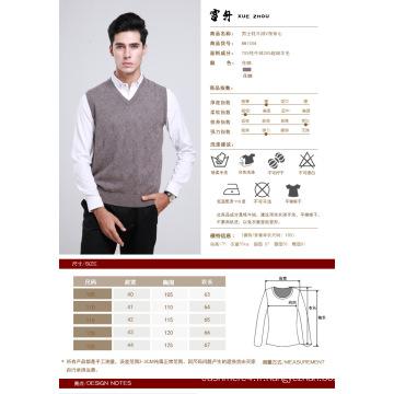 Yak Wool / Cachemire V Neck Pull Gilet / Vêtements / Vêtement / Tricots