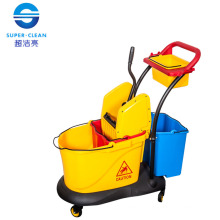 Double Mop Wringer Trolley with Down-Press (B-046)