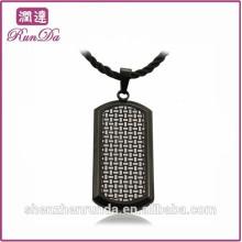 2014 en gros pendentifs alibaba en acier inoxydable noir