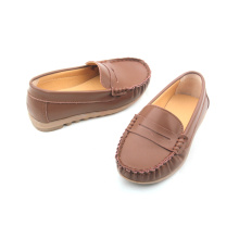 Vendas por atacado Rubber Sole Leather Boat Shoes Kids