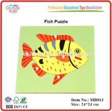 Montessori Puzzle Material de los Peces