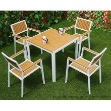 Pátio de jardim Cadeiras de mesa de madeira de madeira Mobiliário de restaurante europeu moderno ao ar livre