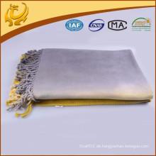 Fabrik-Preis-kundenspezifischer Entwurf Bambus-Material-Bindung-Färbungs-Großverkauf-Wurf-Decke