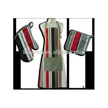 conjunto de avental de cozinha mulher impressa