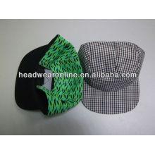 Kundenspezifische 5panels flache Hut / Baseballmütze / Sportkappen