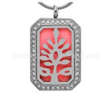 Collier avec pendentif diffuseur en acier inoxydable pour bijoux avec huiles essentielles