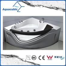 Corner ABS Board Whirlpool Bathtub in White (AB0817)